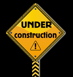 under construction sign icon vector image