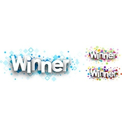 Winner colour banners vector image