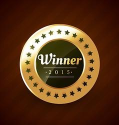 winner of the year 2015 golden label design vector image