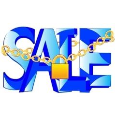 Word sale on lock vector