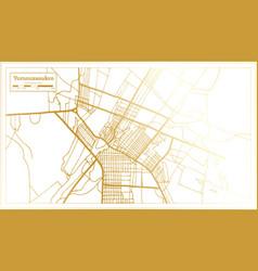 Yamoussoukro ivory coast city map in retro style vector