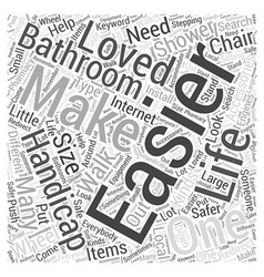 Handicapped accessories for the bathroom word vector