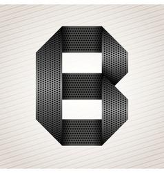 Letter metal ribbon - B vector image vector image
