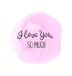 Romantic quote Love text for valentine day vector image vector image