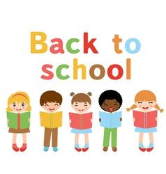 Back to school kids vector image vector image