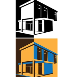 block house vector image vector image