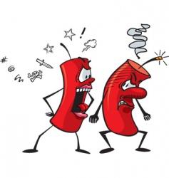 cartoon firecrackers vector image vector image