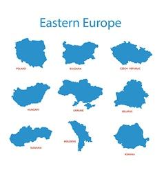 Eastern europe - maps of territories vector