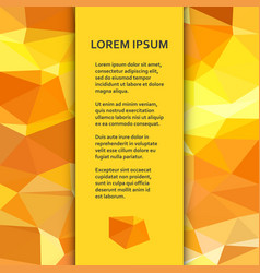 flat poster or banner template with triangular vector image vector image
