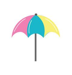 nice umbrella open to protect of sun vector image