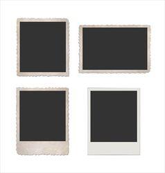 Retro photo frame set vector image