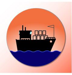 ship icon cargo delivery concept marine boat vector image