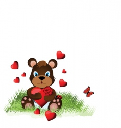 valentine day teddy bear vector image