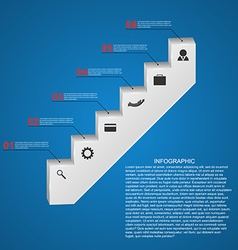 Abstract infographics template Staircase concept vector image
