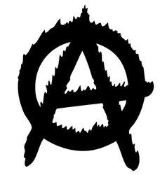 anarchy logo vector image vector image