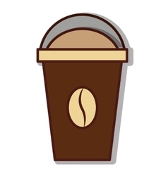 coffee drink glass icon vector image
