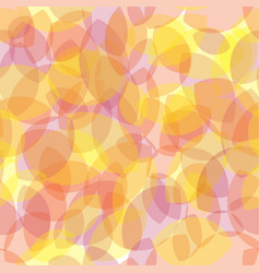 seamless pattern yellow leaves transparent vector image vector image