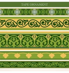 Tape ornament vector image vector image