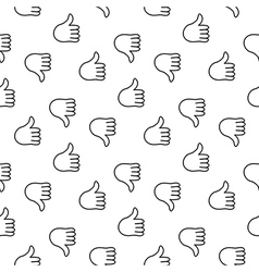 Thumb up seamless pattern vector image vector image