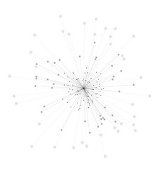 abstract 3d of molecule model vector image