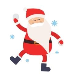 Cartoon santa snowball game winter vector