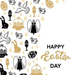 Easter angel card vector