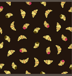 Seamless pattern with doodle hand drawn vector