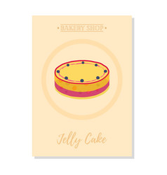 set of pastry posterbanner for sale of jelly cake vector image