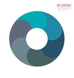abstract element infographics 6 option design for vector image