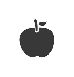 apple isolated icon fall fruits and food vector image