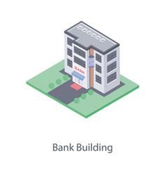 Bank depository building vector