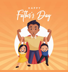 banner design happy fathers day vector image