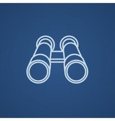Binocular line icon vector