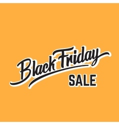 Black Friday Expressive Hand Lettering vector image