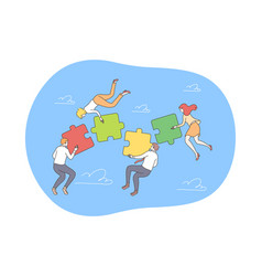 business teamwork collaboration concept vector image