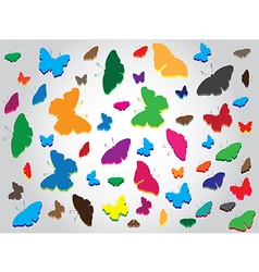 Butterflies abstract background vector image