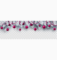 Christmas and new year banner with fir branches vector