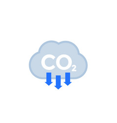 Co2 carbon dioxide emissions reduce emission icon vector