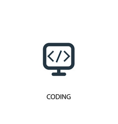 coding icon simple element vector image