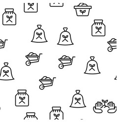 compost ground soil seamless pattern vector image