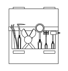 Dental tools icon vector