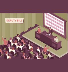 Deputy bill isometric vector