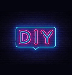 Diy letters neon text do it yourself neon vector