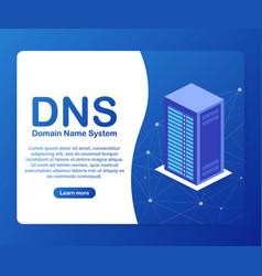 Dns domain name system server vector