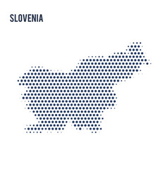 dotted map of slovenia isolated on white vector image