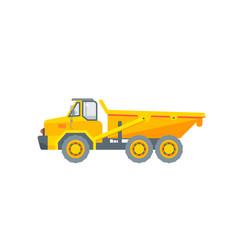 dumper truck side view vector image