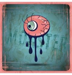 EPS10 vintage grunge old card Monster vector image