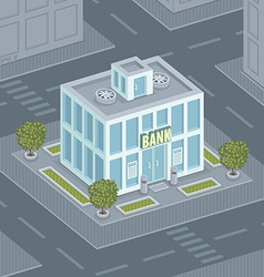 Facade bank vector