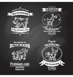 Farm Label Set vector