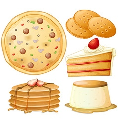 Food and sweets vector image